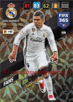 2017-18 - Panini FIFA 365 Cards - N° 119 - CASEMIRO (Real Madrid CF) (Fans' Favourite)