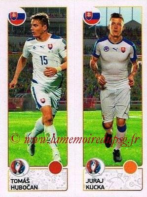Panini Euro 2016 Stickers - N° 210 - Tomas HUBOCAN + Juraj KUCKA (Slovénie)