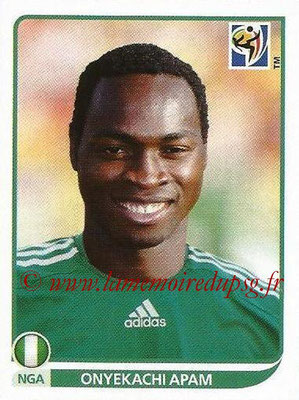 2010 - Panini FIFA World Cup South Africa Stickers - N° 132 - Onyekachi APAM (Nigeria)