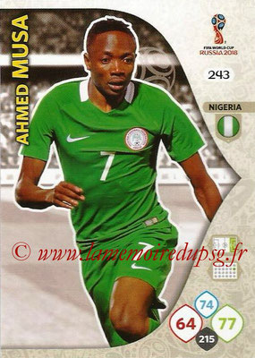 2018 - Panini FIFA World Cup Russia Adrenalyn XL - N° 243 - Ahmed MUSA (Nigeria)