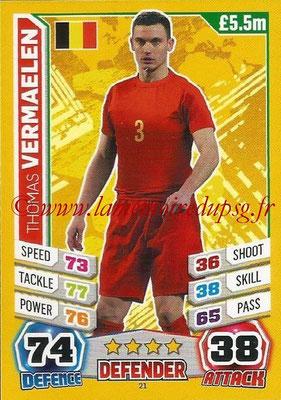 Topps Match Attax England 2014 - N° 021 - Thomas VERMAELEN (Belgique)