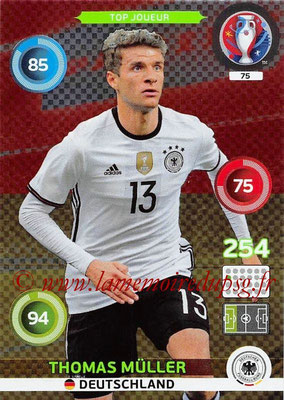 Panini Euro 2016 Cards - N° 075 - Thomas MÜLLER (Allemagne) (Top Joueur)