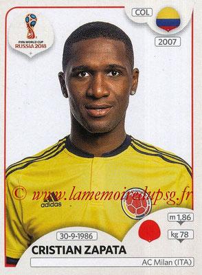 2018 - Panini FIFA World Cup Russia Stickers - N° 635 - Cristian ZAPATA (Colombie)