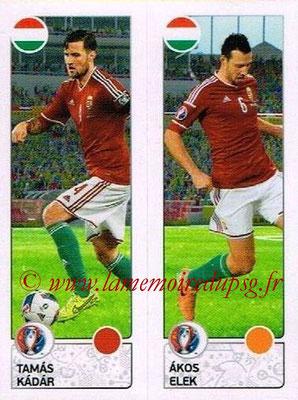 Panini Euro 2016 Stickers - N° 658 - Tamas KADAR + Akos ELEK (Hongrie)
