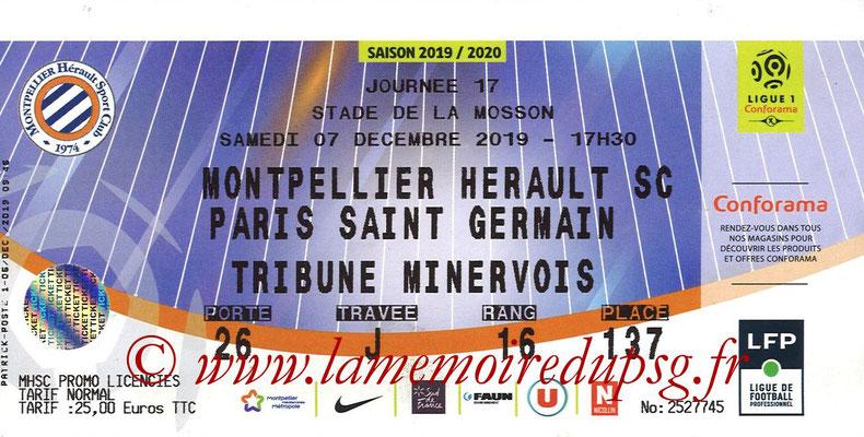 Ticket  Montpellier-PSG  2019-20