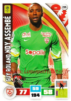2016-17 - Panini Adrenalyn XL Ligue 1 - N° 235 - Guy Roland NDY ASSEMBE (Nancy)