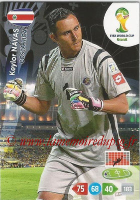 2014 - Panini FIFA World Cup Brazil Adrenalyn XL - N° 089 - Keylor NAVAS (Costa Rica)