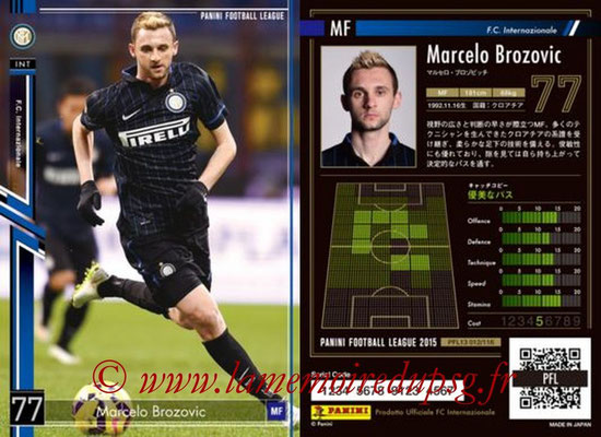Panini Football League 2015 - PFL13 - N° 012 - Marcelo BROZOVIC (FC Internazionale)