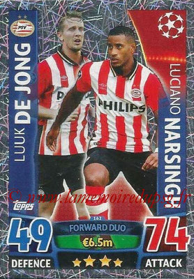 2015-16 - Topps UEFA Champions League Match Attax - N° 162 - Luuk DE JONG + Luciano NARSINGH (PSV Eindhoven) (Forward Duo)