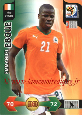 2010 - Panini FIFA World Cup South Africa Adrenalyn XL - N° 066 - Emmanuel EBOUE (Côte d'Ivoire)