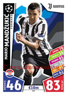 2017-18 - Topps UEFA Champions League Match Attax - N° 377 - Mario MANDZUKIC (Juventus)
