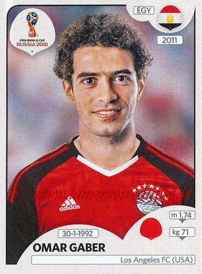 2018 - Panini FIFA World Cup Russia Stickers - N° 077 - Omar GABER (Egypte)
