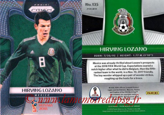 2018 - Panini Prizm FIFA World Cup Russia - N° 135 - Hirving LOZANO (Mexique)