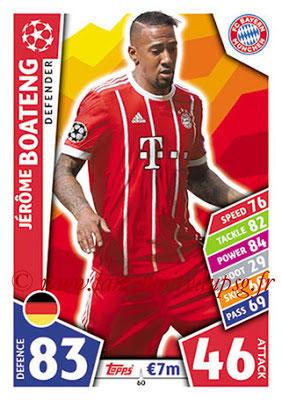 2017-18 - Topps UEFA Champions League Match Attax - N° 060 - Jérôme BOATENG (FC Bayern Munich)