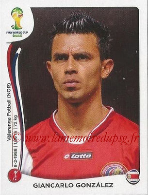 2014 - Panini FIFA World Cup Brazil Stickers - N° 282 - Giancarlo GONZALEZ (Costa Rica)
