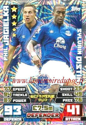 N° 406 - Sylvain DISTIN (Jan 2000-Aout 01, PSG > 2014-15, Everton, Ang) (Duo)