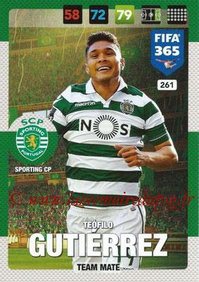 2016-17 - Panini Adrenalyn XL FIFA 365 - N° 261 - Teofilo GUTIERREZ (SportIng CP)