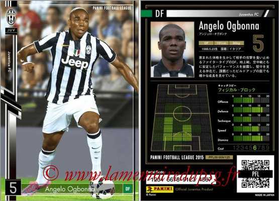 Panini Football League 2015 - PFL09 - N° 009 - Angelo OGBONNA (Juventus Turin)