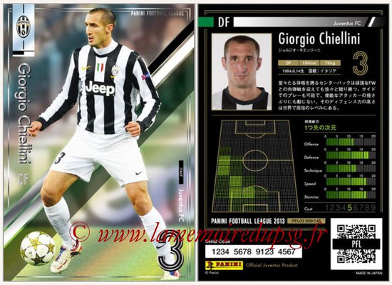 Panini Football League 2013 - PFL03 - N° 009 - Giorgio Chiellini (Juventus FC)