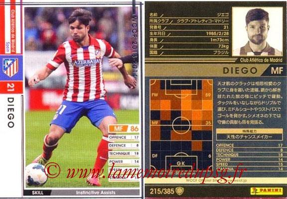 2013-14 - WCCF - N° 215 - DIEGO (Atletico Madrid)