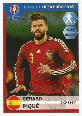 Panini Road to Euro 2016 Stickers - N° 083 - Gerard PIQUE (Espagne)