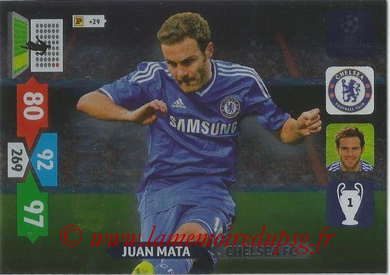 2013-14 - Adrenalyn XL champions League N° 339 - Juan MATA (Chelsea FC) (Game Changer)
