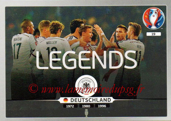 Panini Euro 2016 Cards - N° 019 - Equipe Allemagne (Legends)