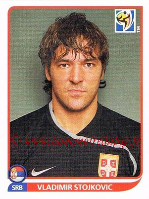 2010 - Panini FIFA World Cup South Africa Stickers - N° 298 - Vladimir STOJKOVIC (Serbie)