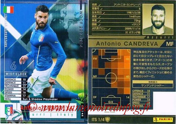 2013-14 - WCCF - N° ITS1 - Antonio CANDREVA (Italie) (Italian Superstar)