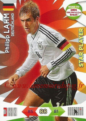 2014 - Panini Road to FIFA World Cup Brazil Adrenalyn XL - N° 047 - Philipp LAHM (Allemagne) (Star Player)