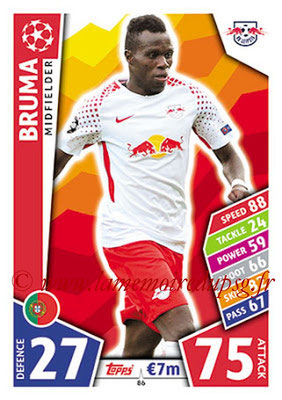 2017-18 - Topps UEFA Champions League Match Attax - N° 086 - BRUMA (RB Leipzig)