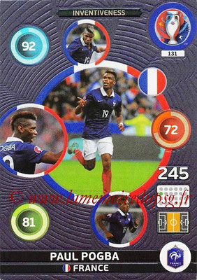 Panini Euro 2016 Cards - N° 131 - Paul POGBA (France) (Inventiveness)