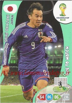 2014 - Panini FIFA World Cup Brazil Adrenalyn XL - N° 234 - Shinji OKAZAKI (Japon) (One to watch)