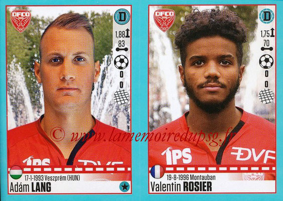 2016-17 - Panini Ligue 1 Stickers - N° 194 + 195 - Adam LANG + Valentin ROSIER (Dijon)