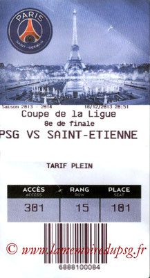 Tickets  PSG-Saint-Etienne  2013-14