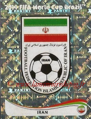 2014 - Panini FIFA World Cup Brazil Stickers - N° 450 - Ecusson Iran