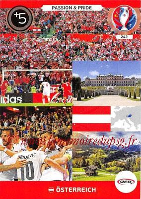 Panini Euro 2016 Cards - N° 242 - Passion and Pride de Autriche