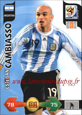 2010 - Panini FIFA World Cup South Africa Adrenalyn XL - N° 013 - Esteban CAMBIASSO (Argentine)