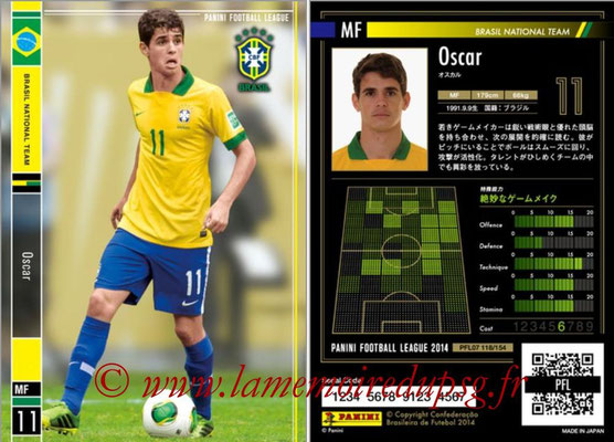 Panini Football League 2014 - PFL07 - N° 118 - OSCAR (Bresil)