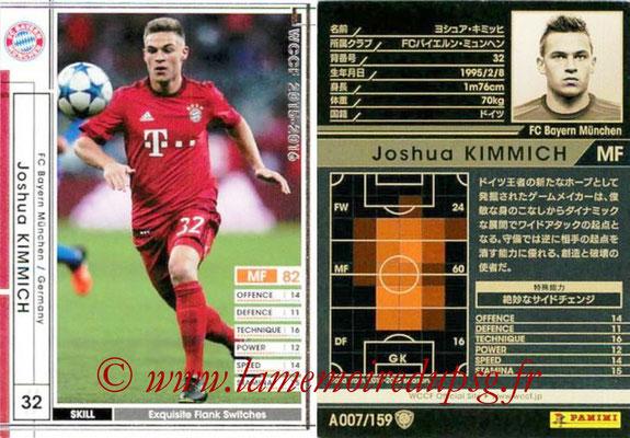 2015-16 - Panini WCCF - N° A007 - Joshua KIMMICH (FC Bayern Munich)