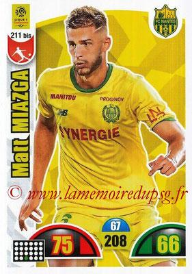 2018-19 - Panini Adrenalyn XL Ligue 1 - N° 211 bis - Matt MIAZGA (Nantes)