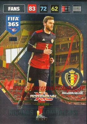 2016-17 - Panini Adrenalyn XL FIFA 365 - N° 418 - Nicolas LOMBAERTS (Belgique) (Veteran)