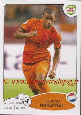 2014 - Panini Road to FIFA World Cup Brazil Stickers - N° 311 - Luciano NARSINGH (Pays-Bas)
