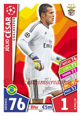 2017-18 - Topps UEFA Champions League Match Attax - N° 200 - Julio CESAR (SL Benfica)