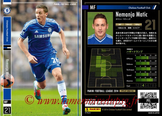 Panini Football League 2014 - PFL07 - N° 066 - Nemanja MATIC (Chelsea FC)