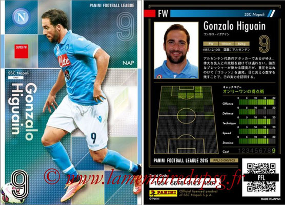 Panini Football League 2015 - PFL10 - N° 095 - Gonzalo HIGUAIN (Naples) (Super FW)