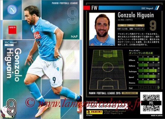 Panini Football League 2015 - PFL10 - N° 095 - Gonzalo HIGUAIN (Naples) (Super FW)