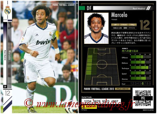 Panini Football League 2013 - PFL01 - N° 059 - Marcelo ( Real Madrid )