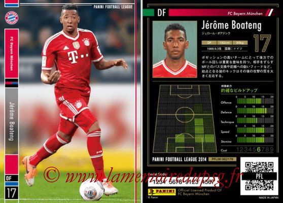 Panini Football League 2014 - PFL08 - N° 082 - Jérôme BOATENG (Bayern Munich)