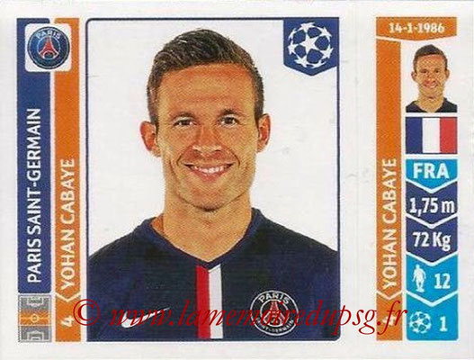 2014-15 - Panini Champions League N° 450 - Yohan CABAYE (Paris Saint-Germain)